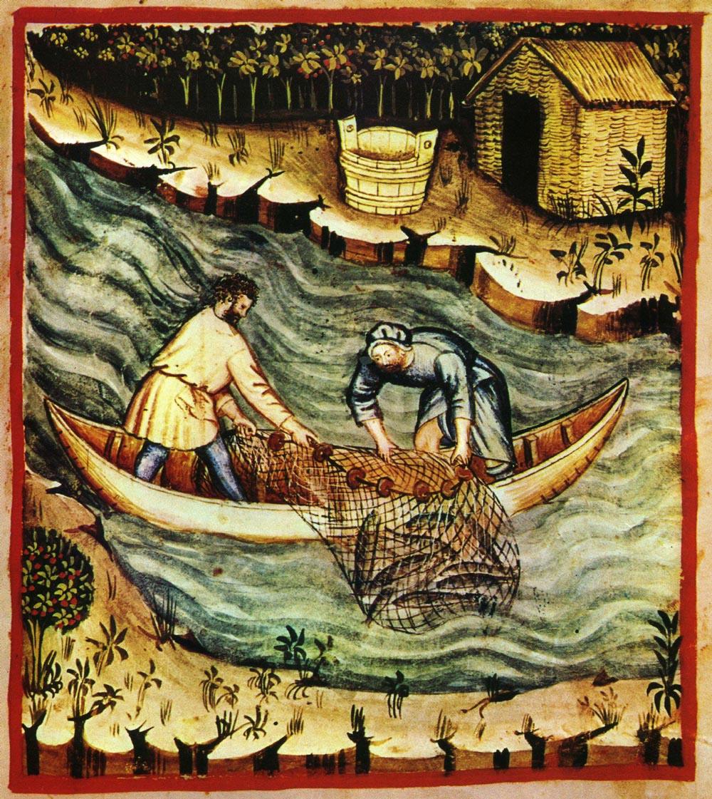 Von einem Gedanken gefangenwie ein Fisch im Netz